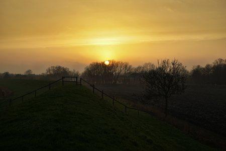Bild Sonnenuntergang Wischhafen