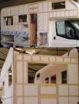 Bild Wohnmobil Aufbau Holzkonstuktion