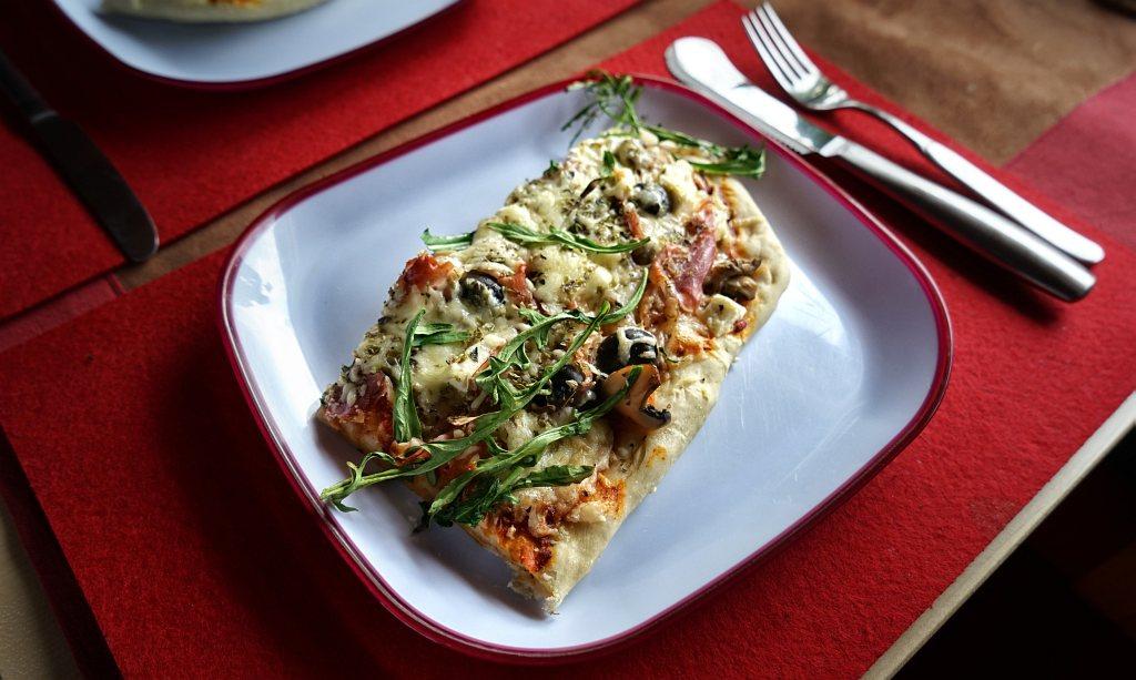 sebstgebackene Pizza