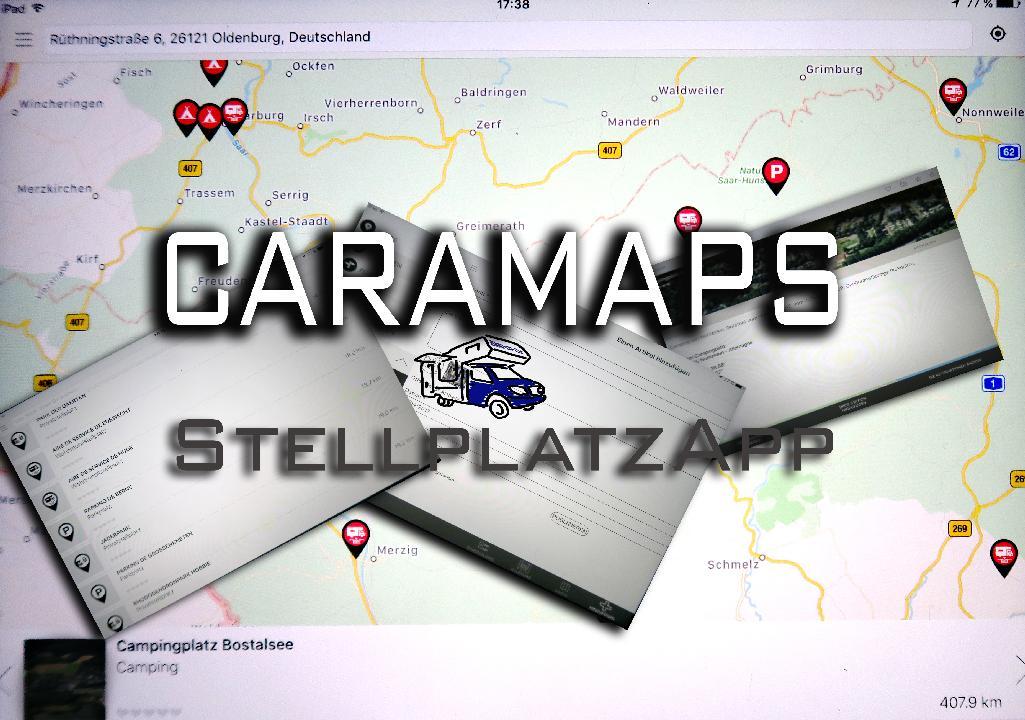 caramaps stellplatz app leben und reisen im wohnmobil. Black Bedroom Furniture Sets. Home Design Ideas