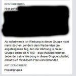 Facebook Hinweise auf Werbung