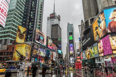 Times Square Regen