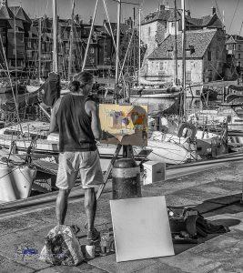 Maler am Hafen