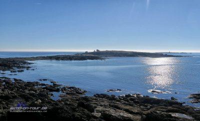 Eiland an der Küste