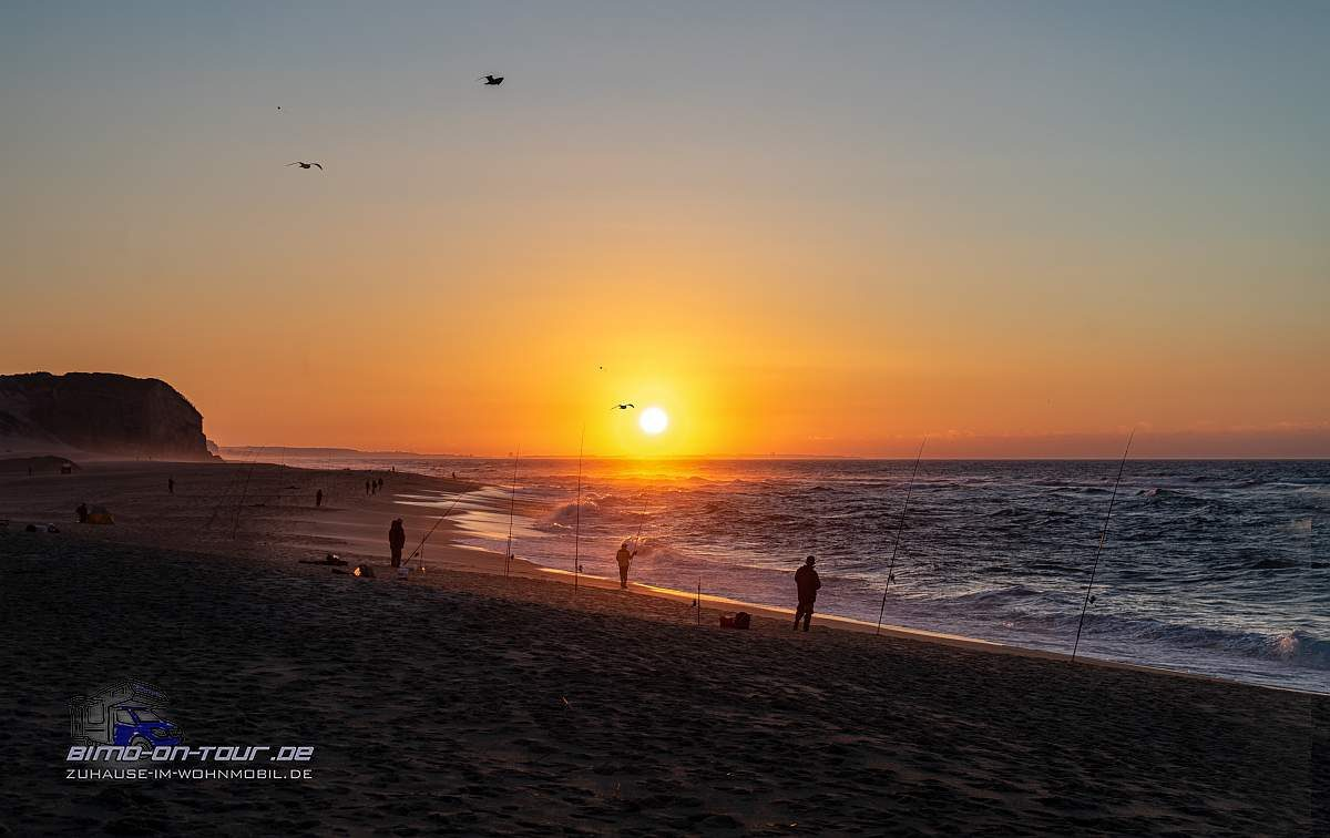 Sonnenuntergang-Angler