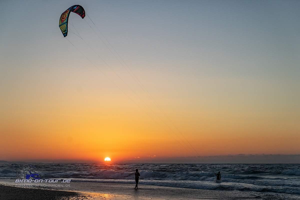 Sonnenuntergang-Kiter