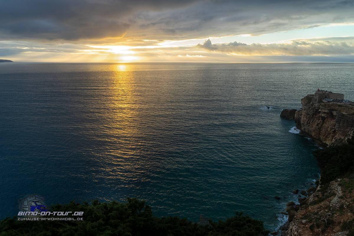Nazare-Sonnenuntergang