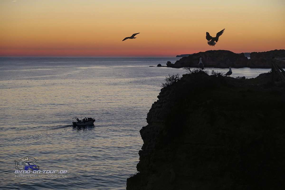 Praia dos Careanos-Abendstimmung