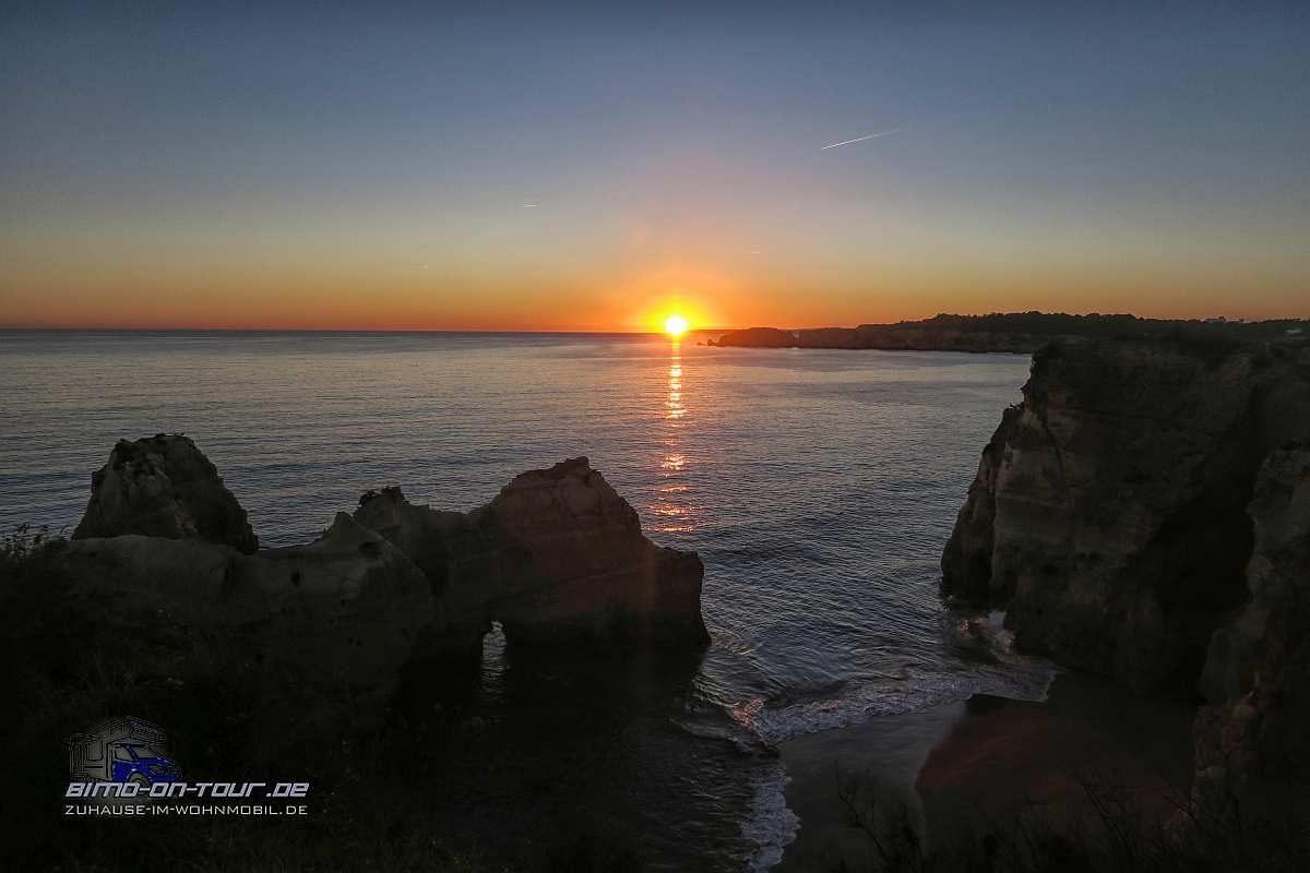 Praia dos Careanos-Sonnenuntergang