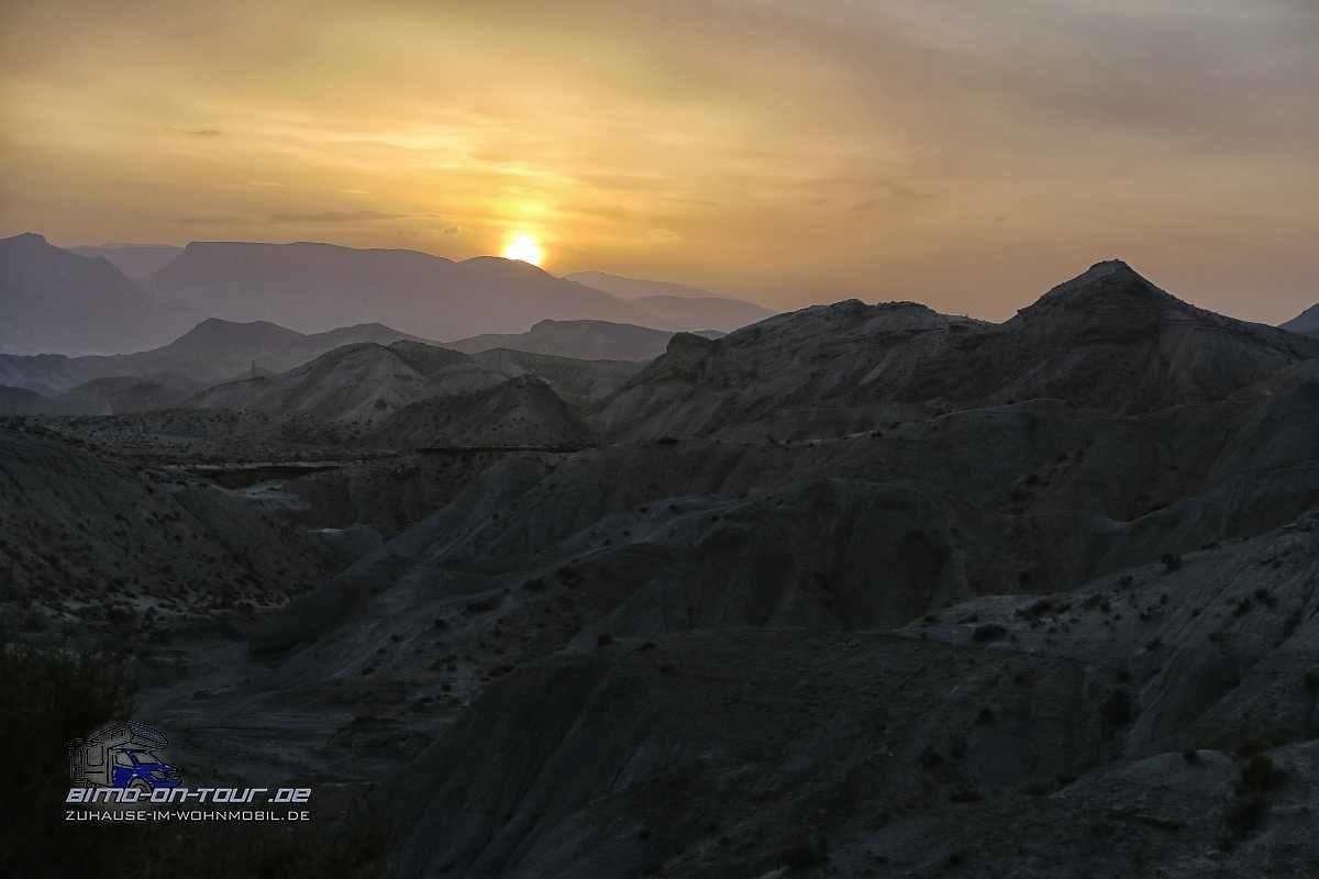 Tabernas-Badlands-Sonnenuntergang