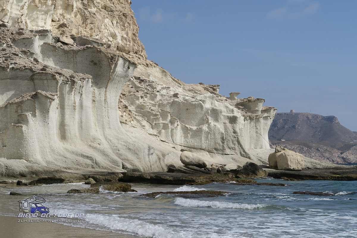 Erodierender weißer Sandstein