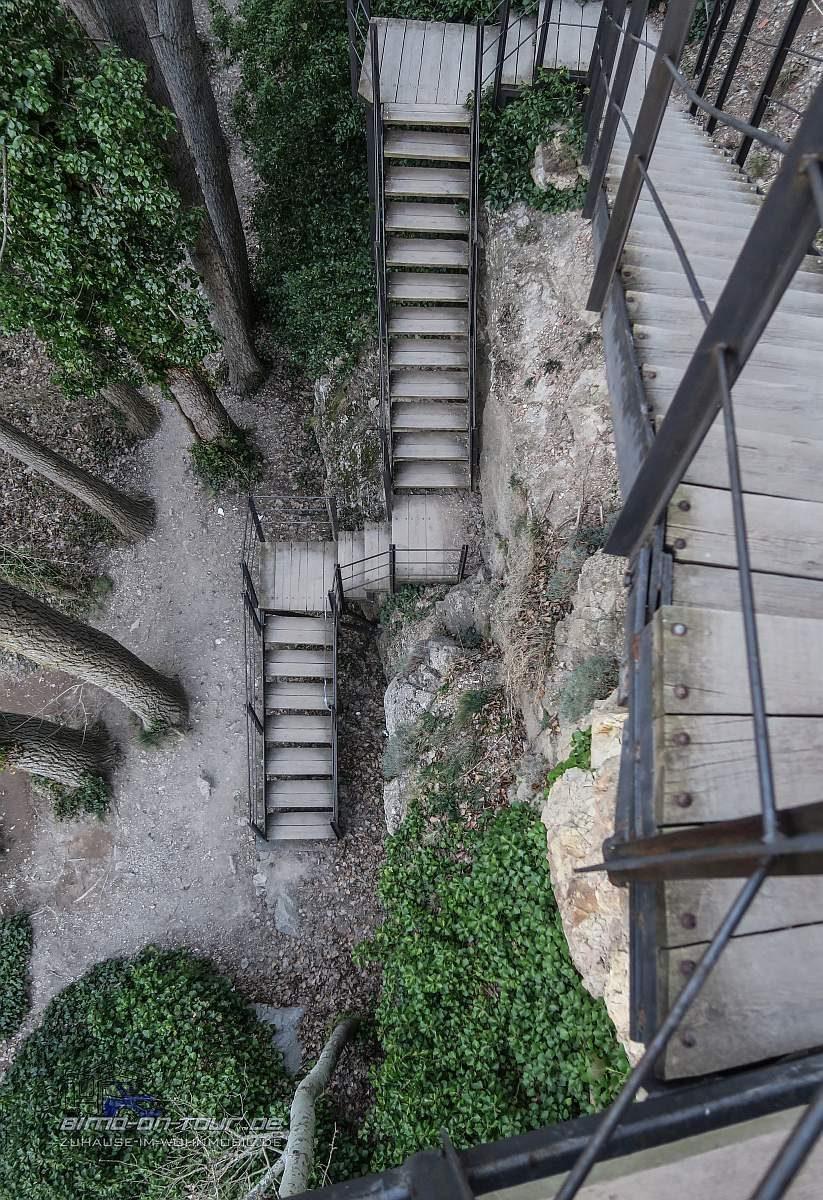 Albarrazin Wanderung Treppen