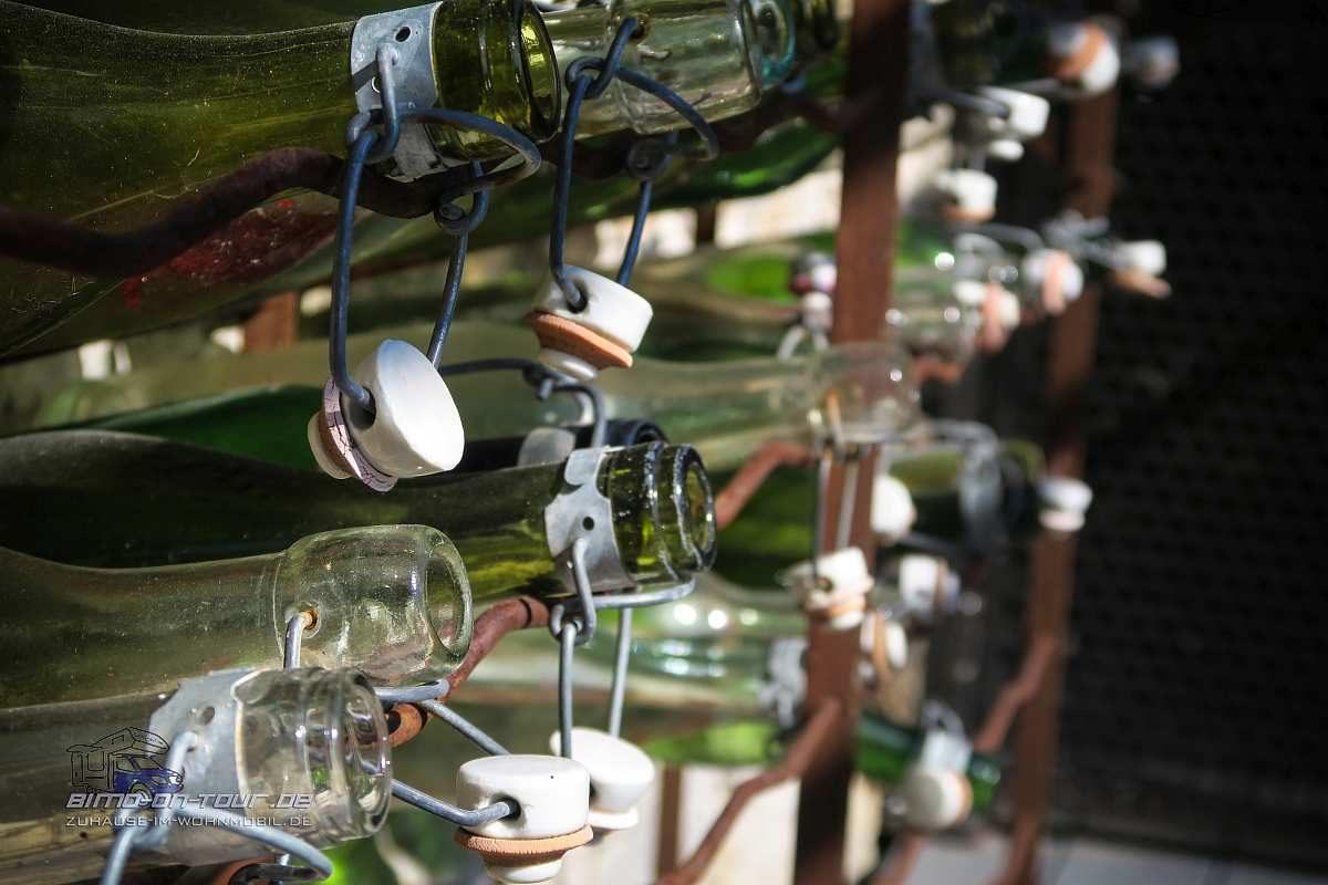 Labeaume-Weinflaschen