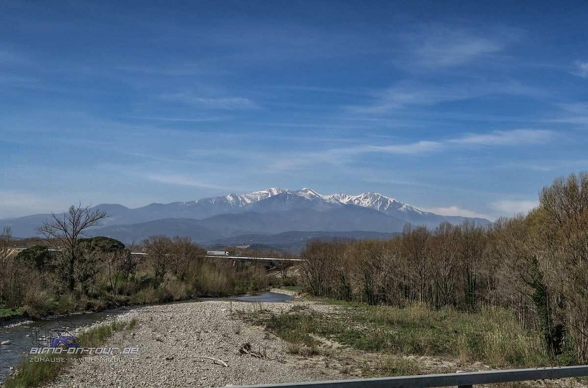 NII-Blick auf die Pyrenäen
