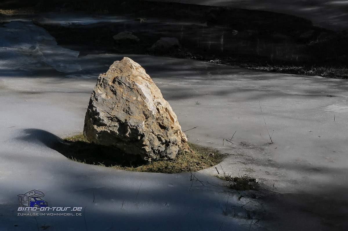 Tajo-Stein im Schnee