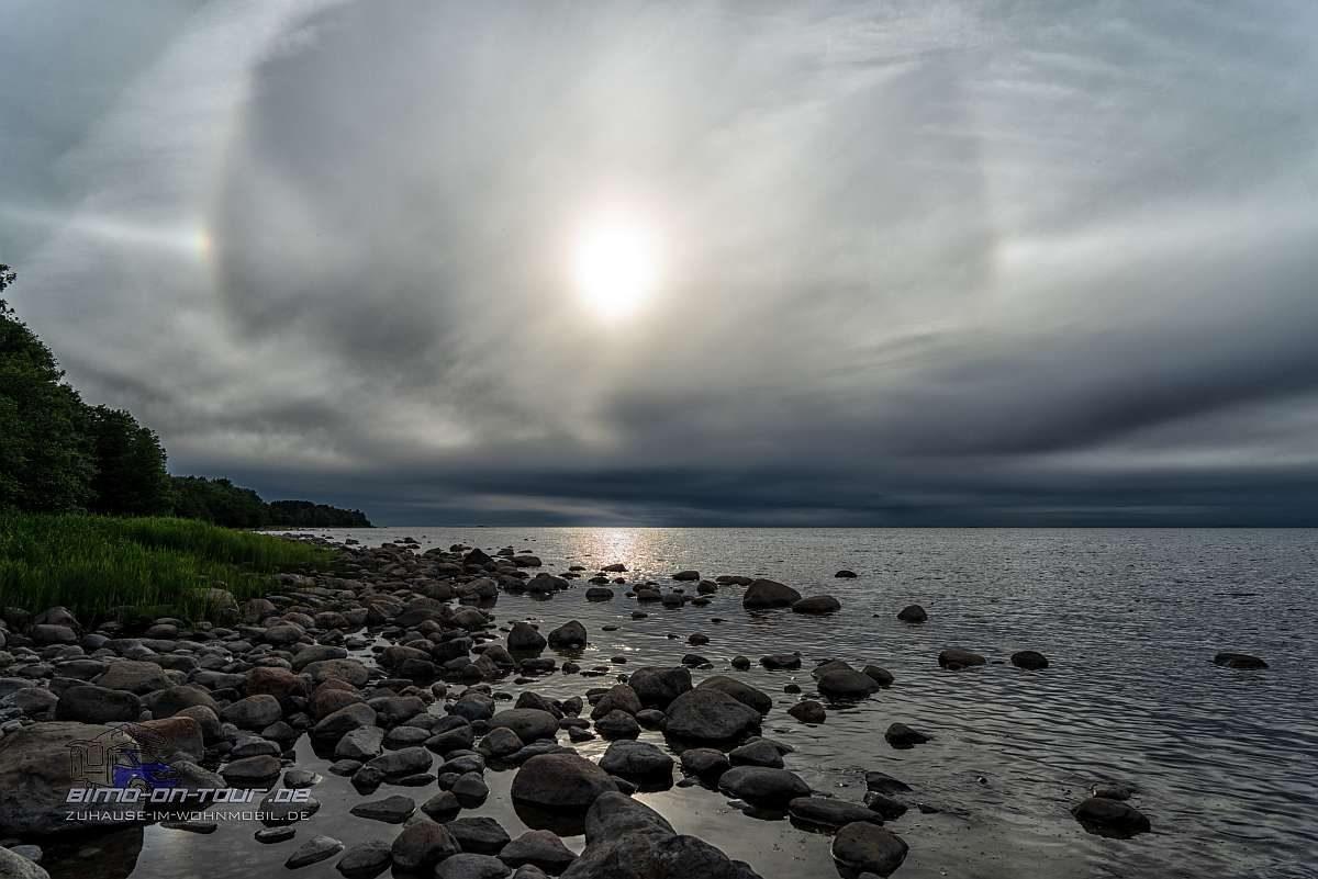 Sonne mit Halo Ostsee
