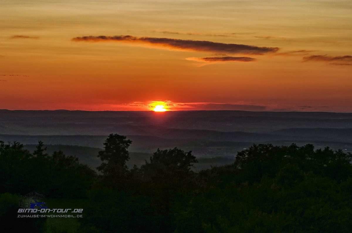 Schönbergturm-Sonnenuntergang