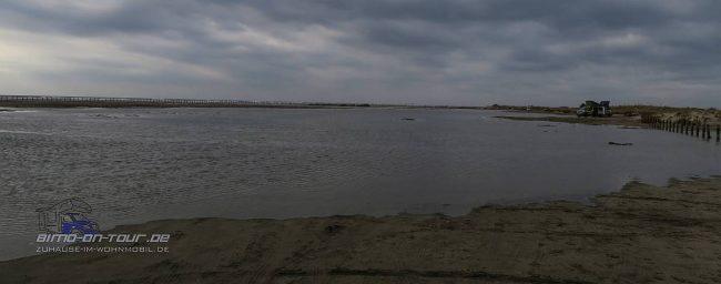 Überfluteter Strand