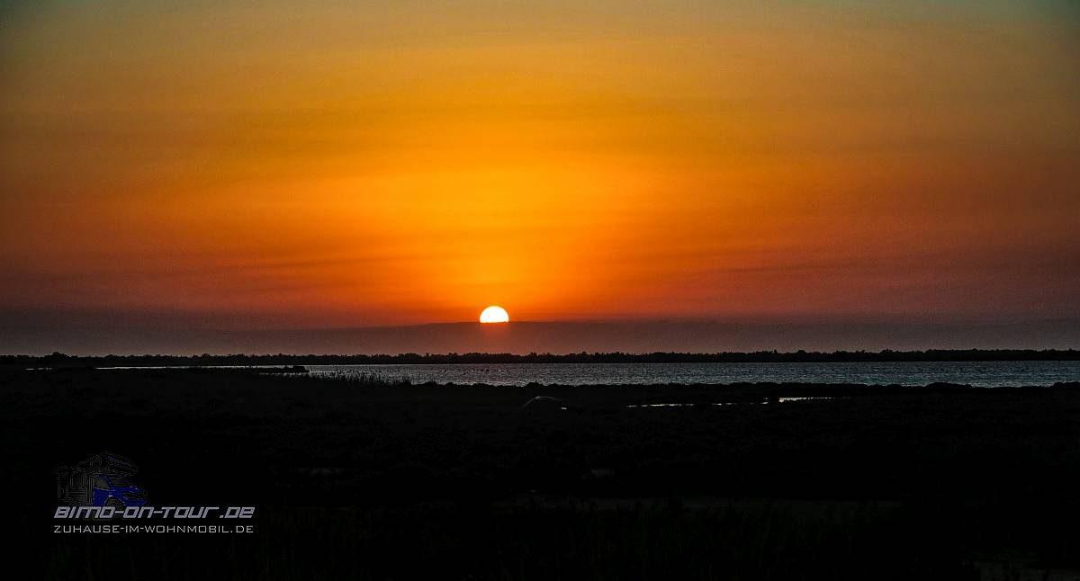 Plage Napoleon-Sonnenuntergang