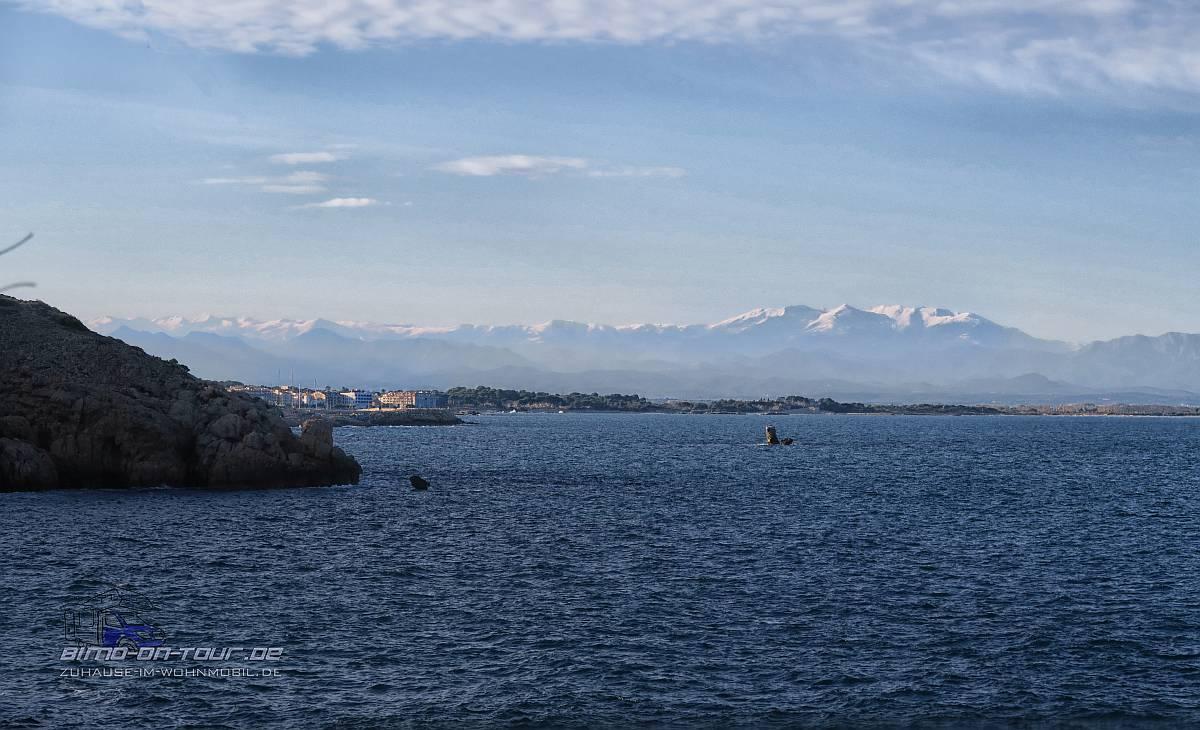 Ausblick L´Escala und Pyrenäen