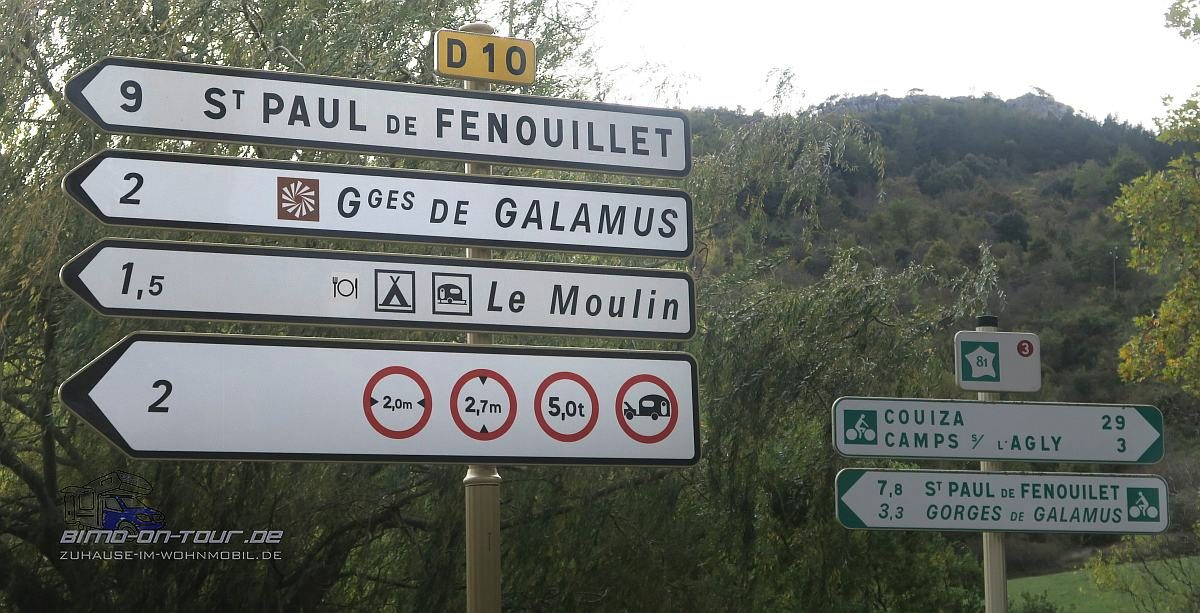 Gorges de Gamalus-Begrenzung