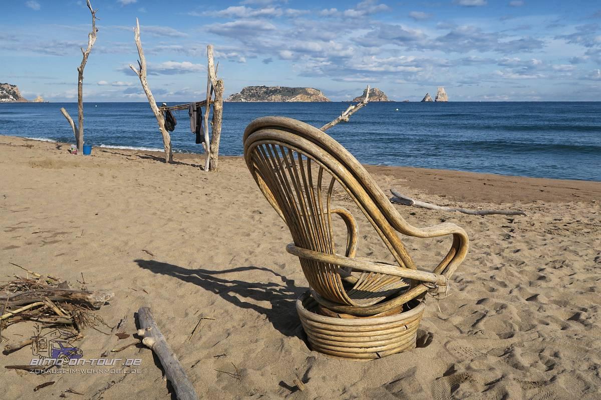 Sessel am Strand