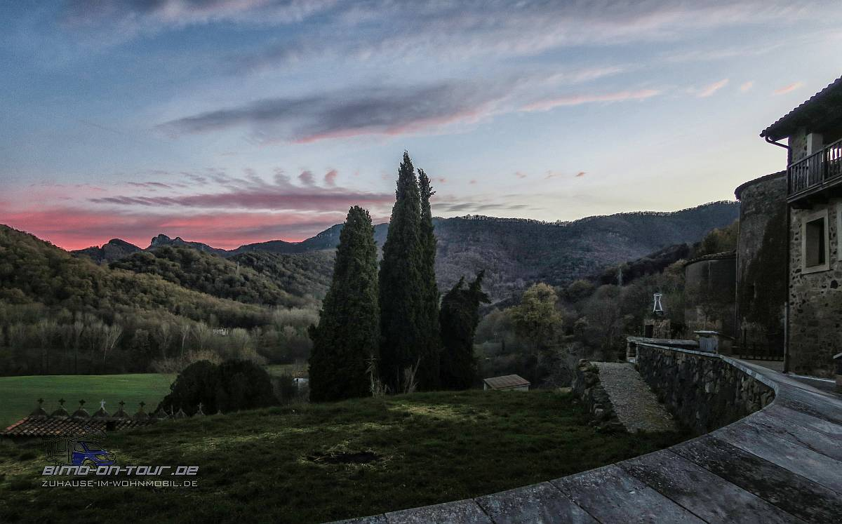 Santa Pau Sonnenuntergang