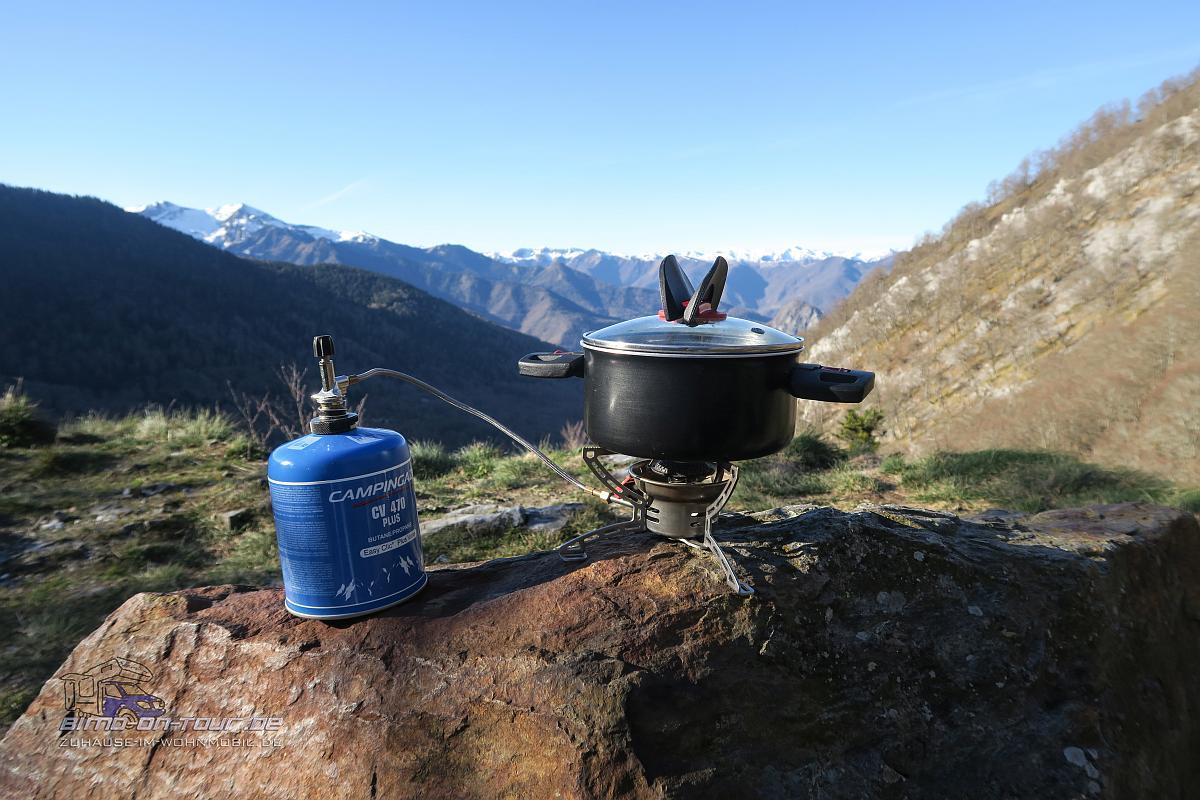 Col de Mente - Frühstück
