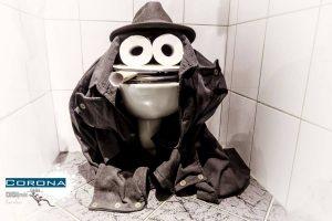 Toiletten-Frosch
