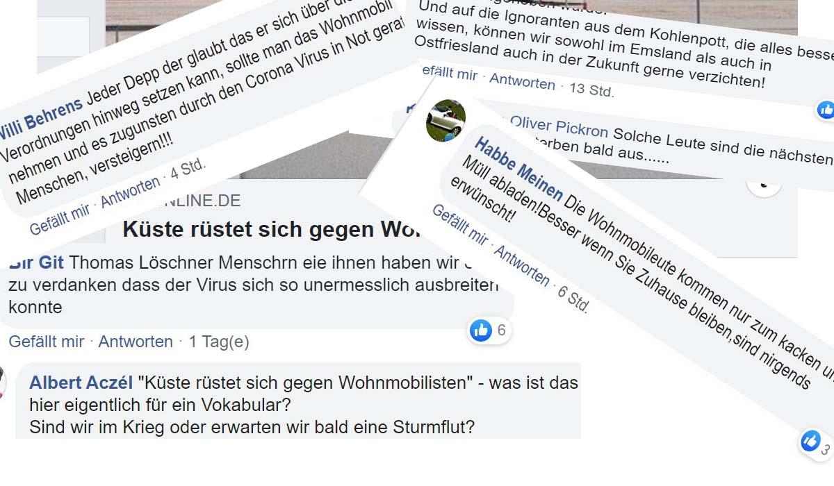 Wohnmobil-Hasskommentare