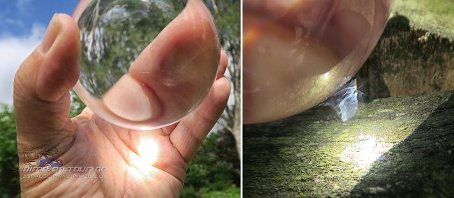 Lensball Glaskugel Brennglas