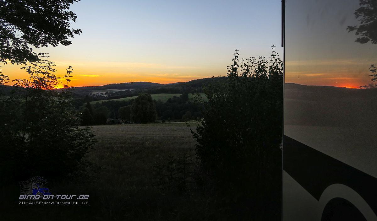 Hohenberg-Stellplatz-Sonnenuntergang