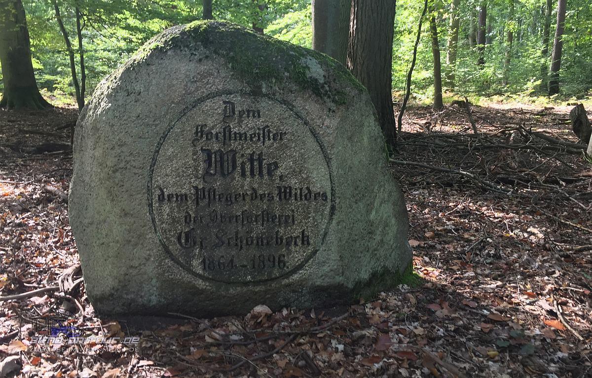 Schorfheide-Gedenkstein