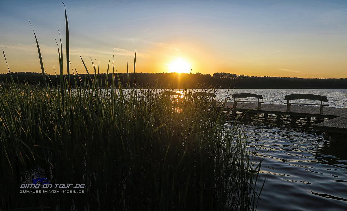 Jezioro Dlugie - Sonnenuntergang