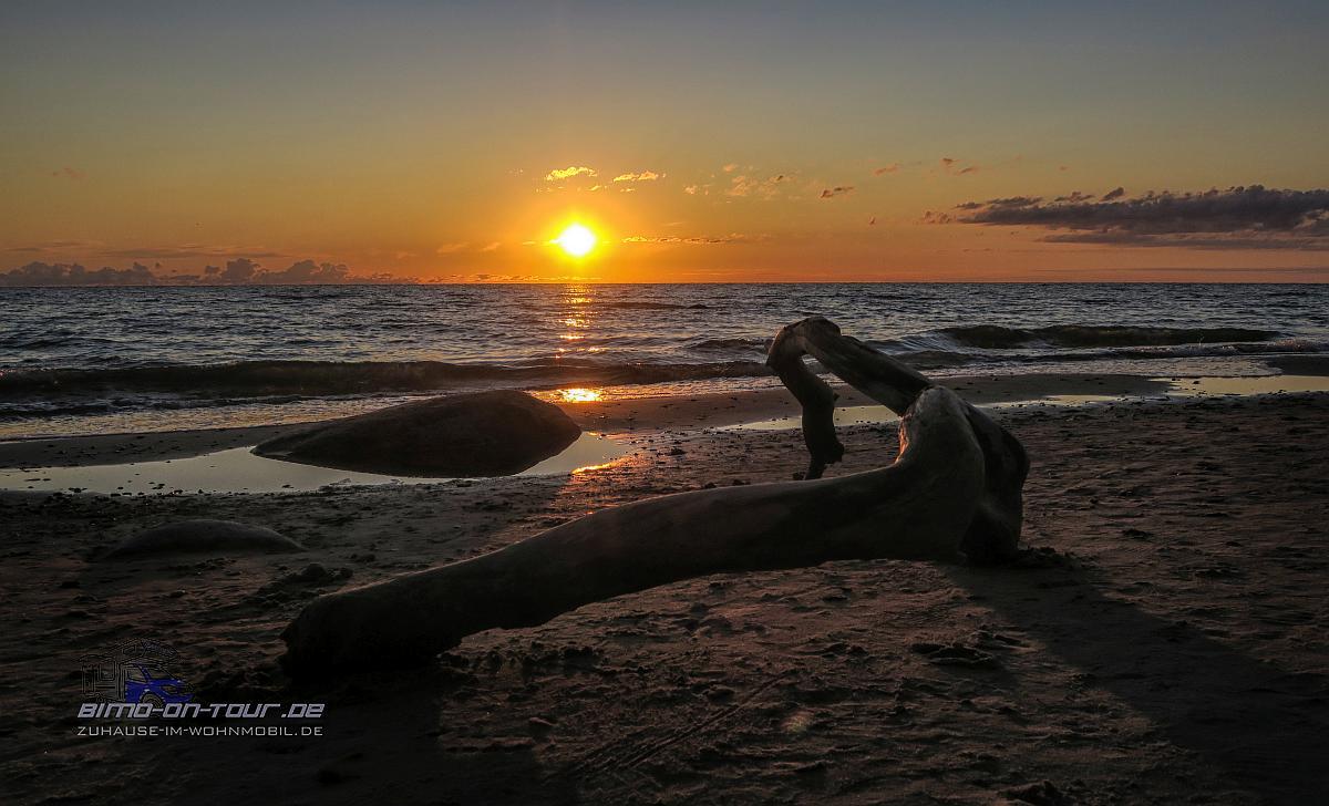 Klaipeda Ostsee Sonnenuntergang